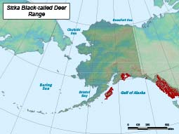 Sitka Black-tailed Deer range map