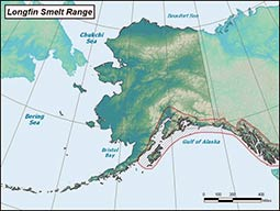 Longfin Smelt range map
