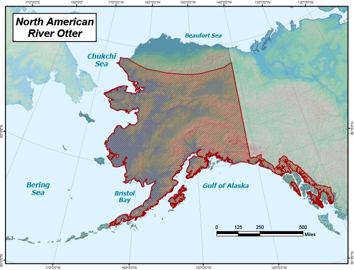 Range map of River Otter in Alaska