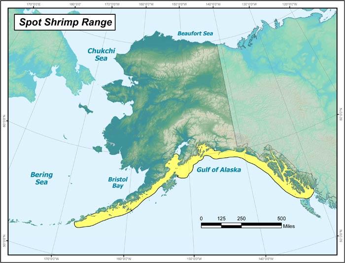 Spot Shrimp Range Map, Alaska Department of Fish and Game on army alaska, pup alaska, fish alaska, pot alaska, love alaska, usa alaska,