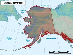 Willow Ptarmigan range map