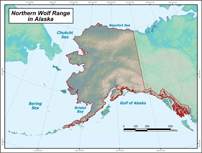 Wolf Range Map Alaska Department Of Fish And Game - Us map and alaska