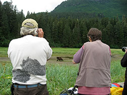 Picture of bear viewing at Pack Creek