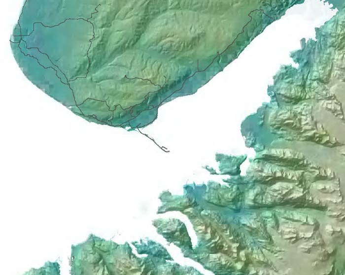 map of southwestern Kenai Peninsula