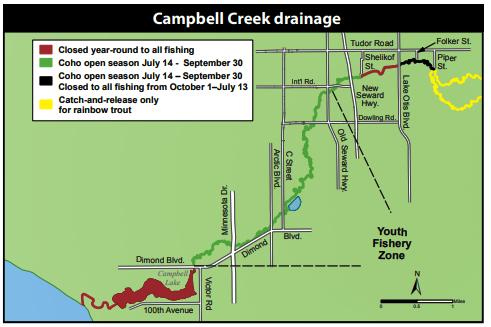 Campbell Creek map
