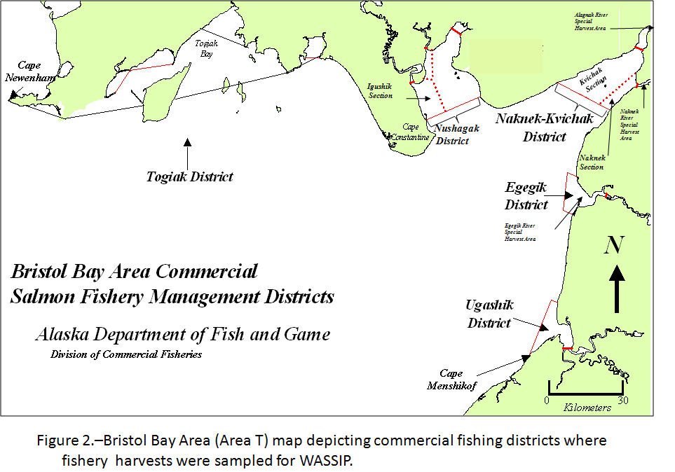 Area maps wassip alaska department of fish and game for Salmon fishing bay area