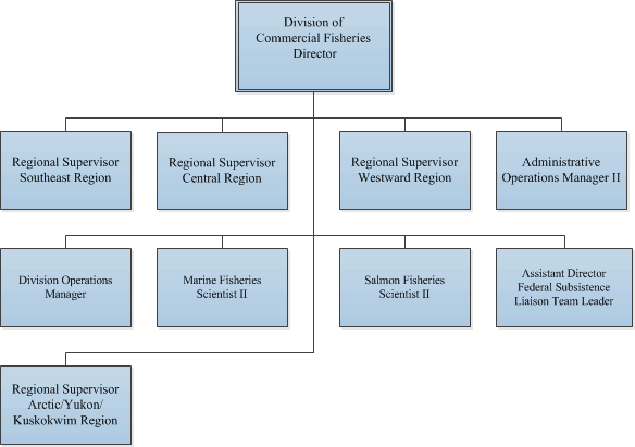 General Organizational Chart of Commercial Fisheries Division
