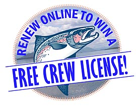 Renew Online to Win A Free Crew License!