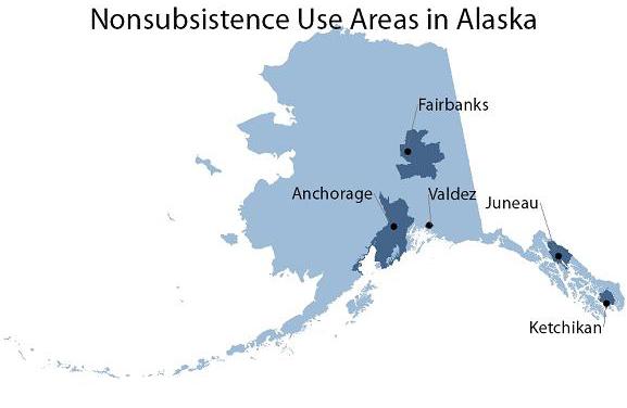 Nonsubsistence areas subsitence information alaska for Fishing in fairbanks alaska