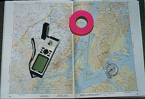 map, GPS and compass
