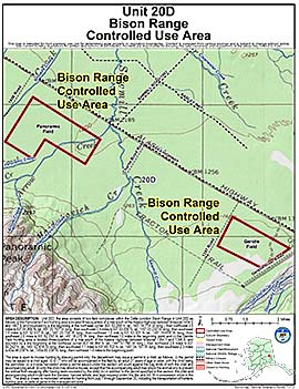 Map of Bison Range Controlled Use Area