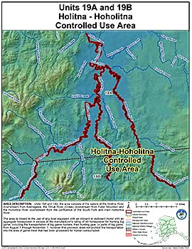 Map of Holitna-Hoholitna Controlled Use Area