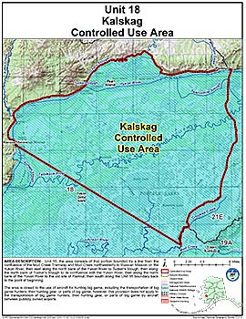 Map of Kalskag Controlled Use Area