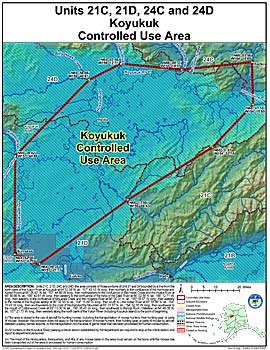 Map of Koyukuk Controlled Use Area