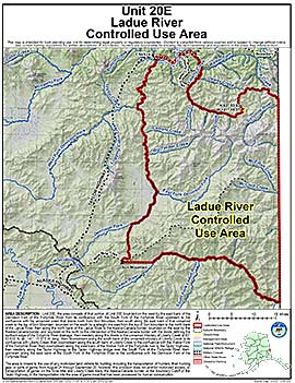 Map of Ladue River Controlled Use Area