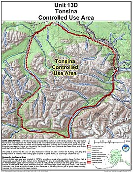 Map of Tonsina Controlled Use Area