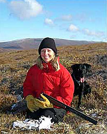 Successful hunter with her dog