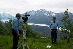 Photo of taping Sharing Alaska's Trails