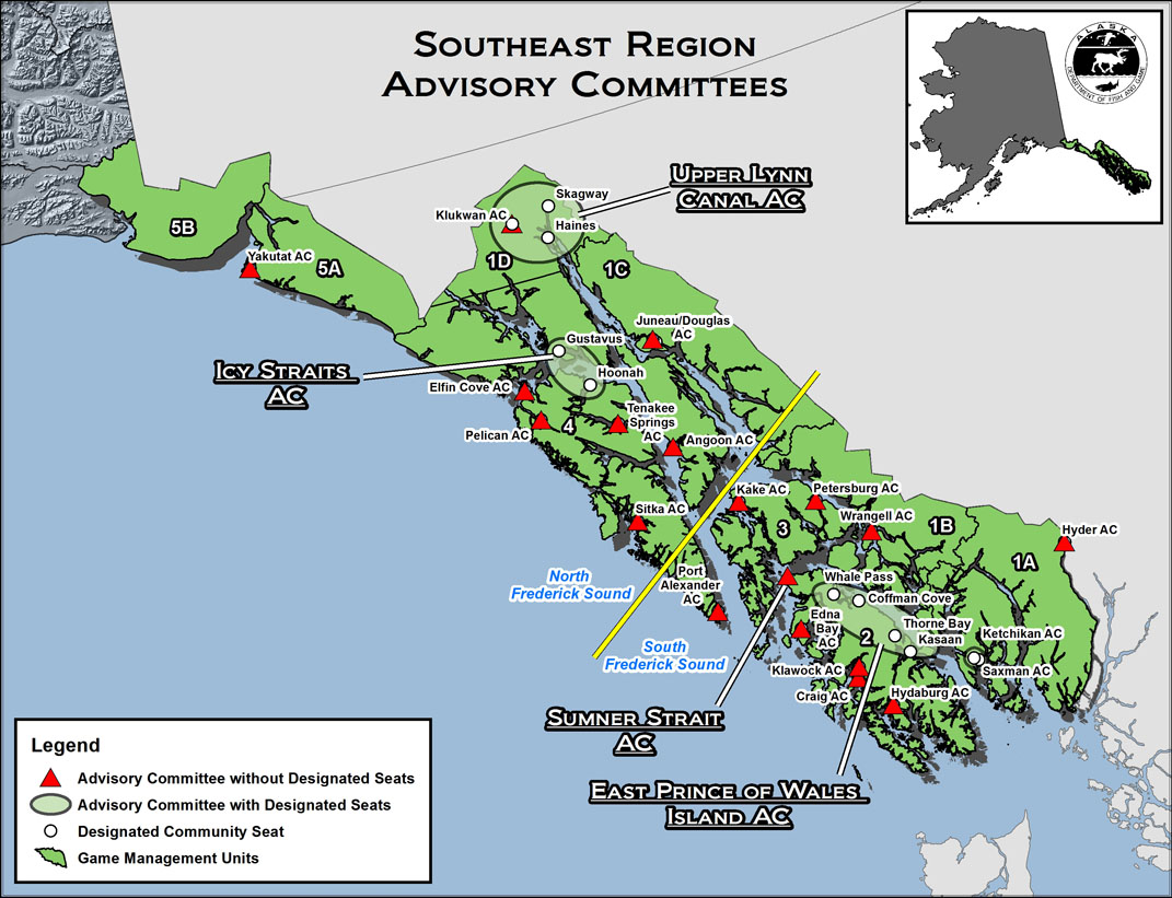 Frederick Sound Alaska Map.Advisory Committees Overview Alaska Department Of Fish And Game