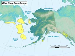 Blue King Crab range map