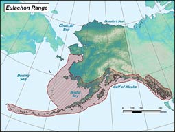 Eulachon range map