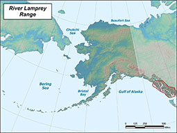 River Lamprey range map