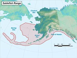 Sablefish range map